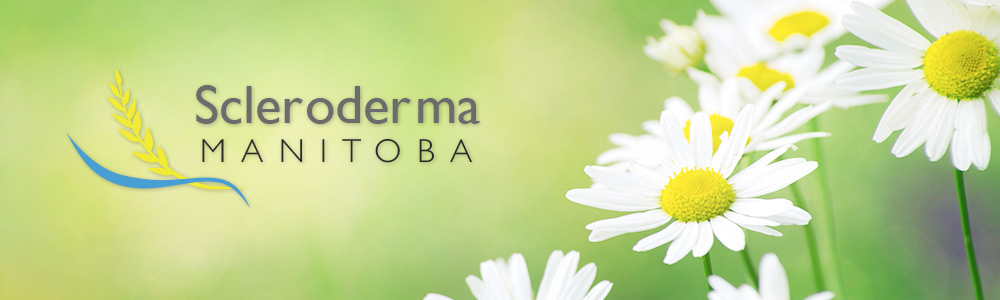Scleroderma Quebec logo with flowers